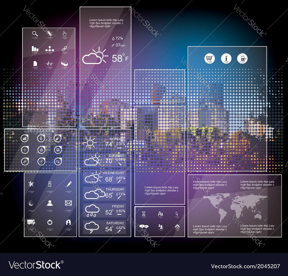 Weather widgets vector   Price: 1 Credit (USD $1)