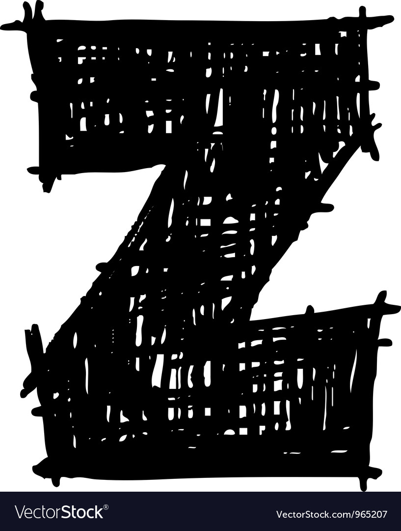 Z - hand drawn character sketch font vector   Price: 1 Credit (USD $1)