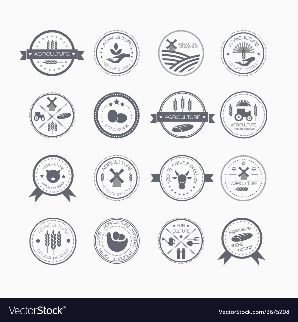 Agriculture and farming logos vector   Price: 1 Credit (USD $1)
