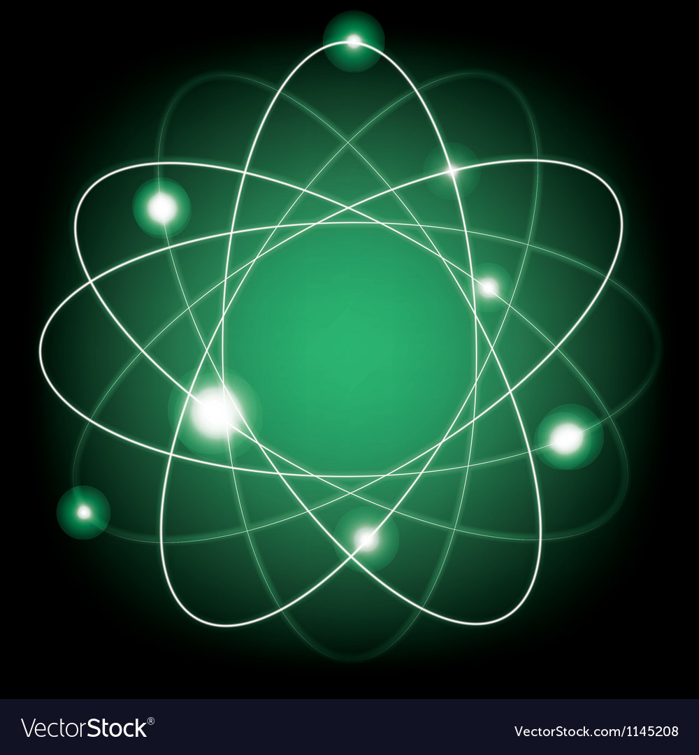 Atomic model vector | Price: 1 Credit (USD $1)