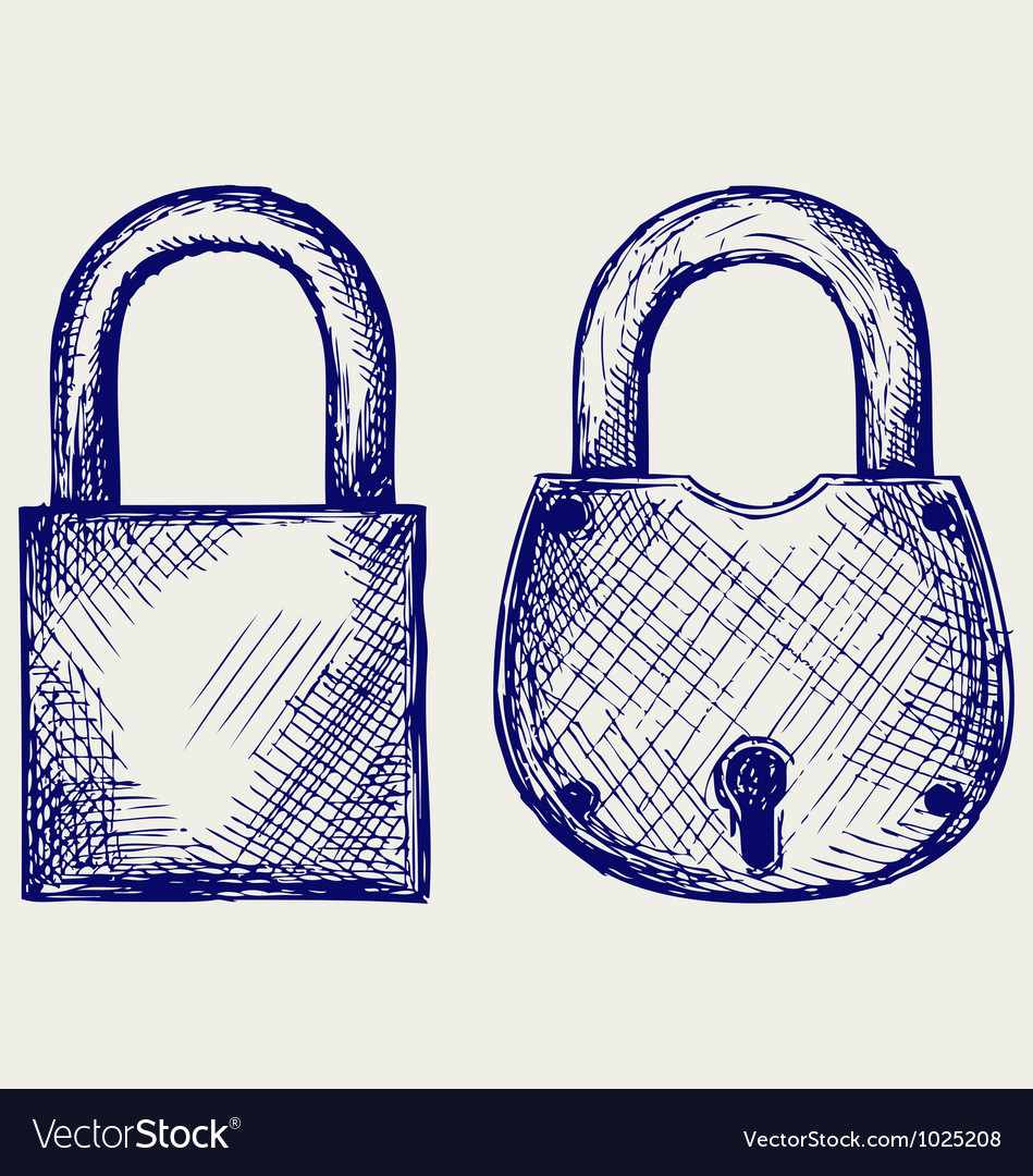 Closed locks security icon vector | Price: 1 Credit (USD $1)