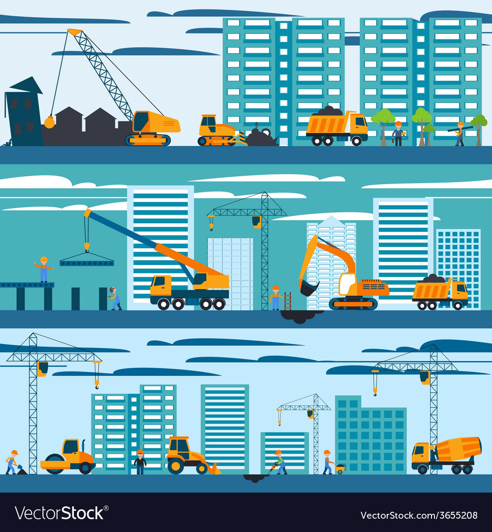 Construction and building concept vector | Price: 1 Credit (USD $1)