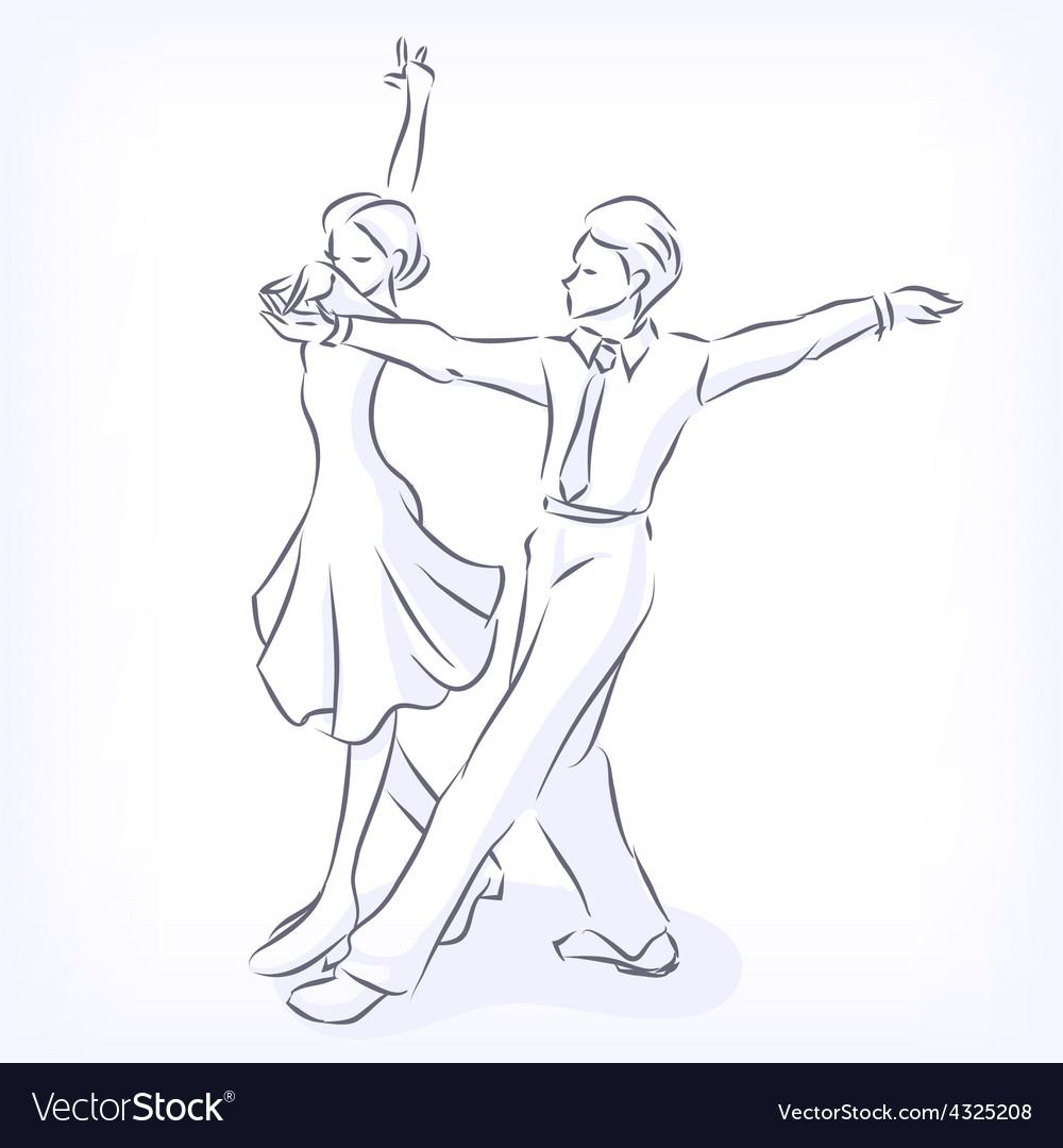 Couple dances latin fast ballroom dances vector