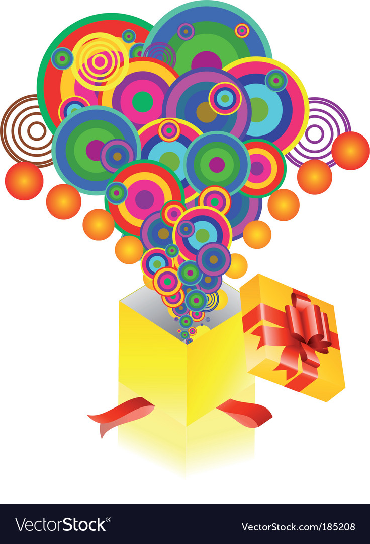Fantasy explosion from a box vector   Price: 1 Credit (USD $1)