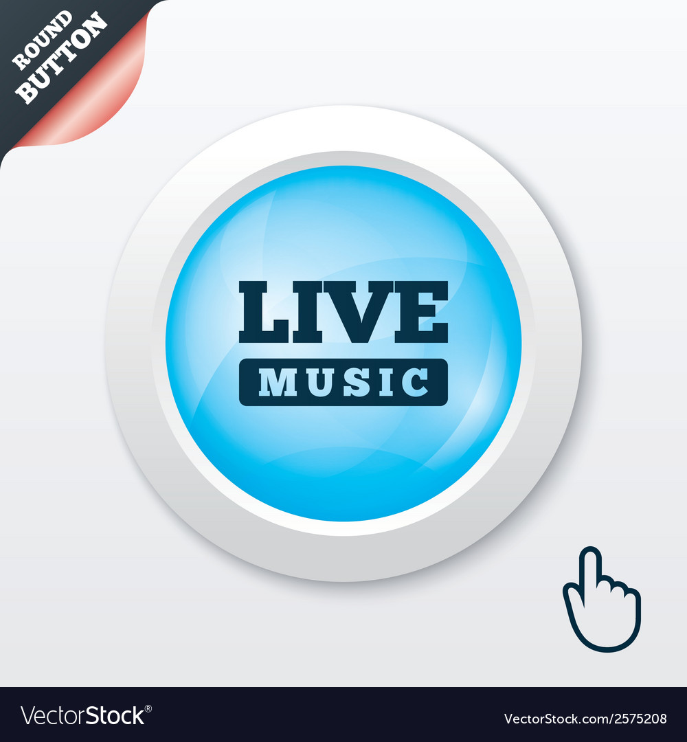 Live music sign icon karaoke symbol vector | Price: 1 Credit (USD $1)