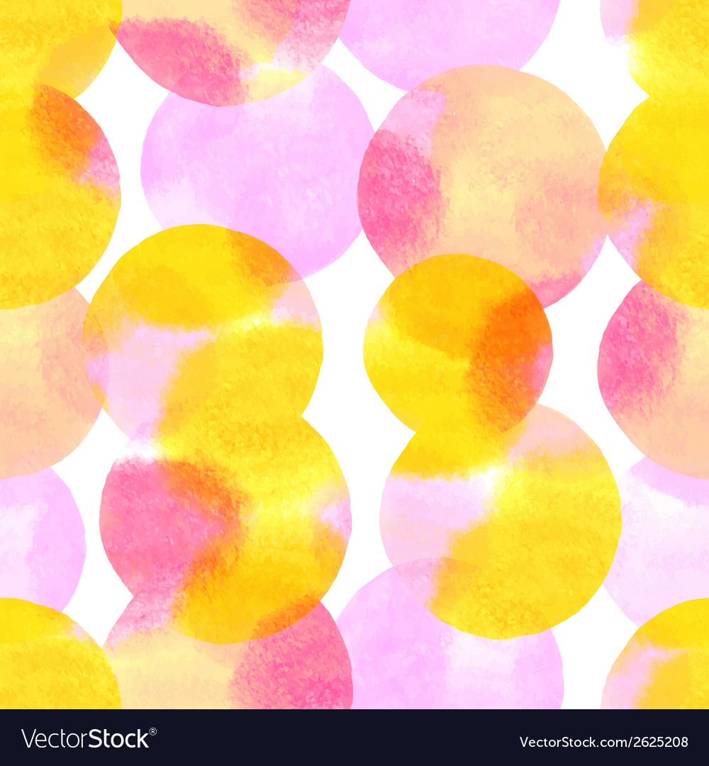 Seamless pattern with watercolor painted elements vector | Price: 1 Credit (USD $1)