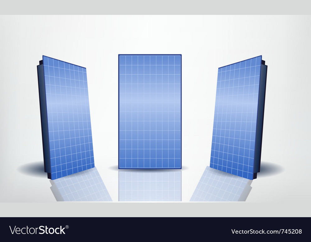 Solar panels set vector | Price: 1 Credit (USD $1)