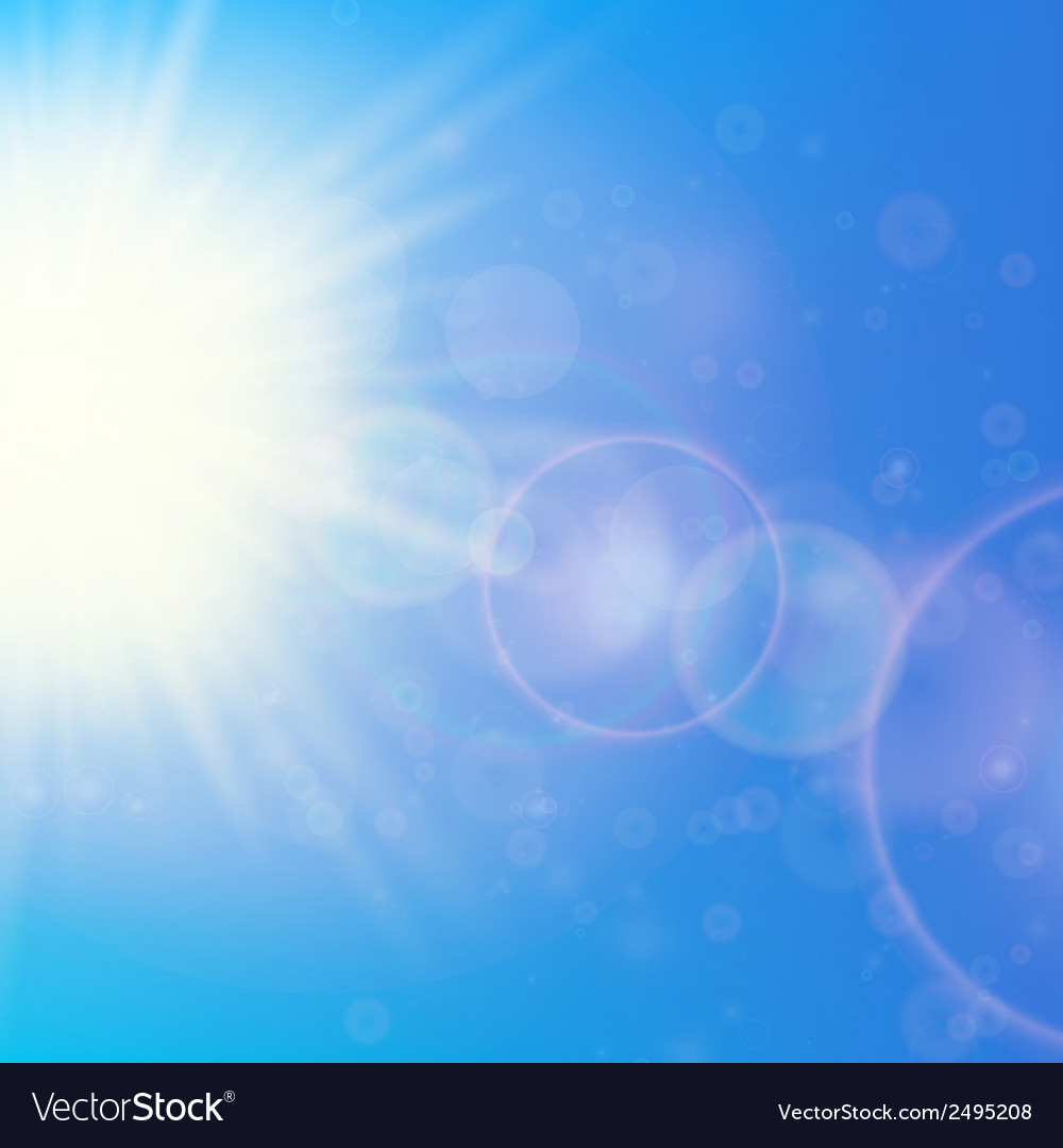 Sun with lens flare template vector   Price: 1 Credit (USD $1)