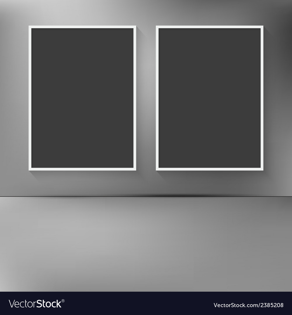 Two blank frames hanging on the wal vector   Price: 1 Credit (USD $1)
