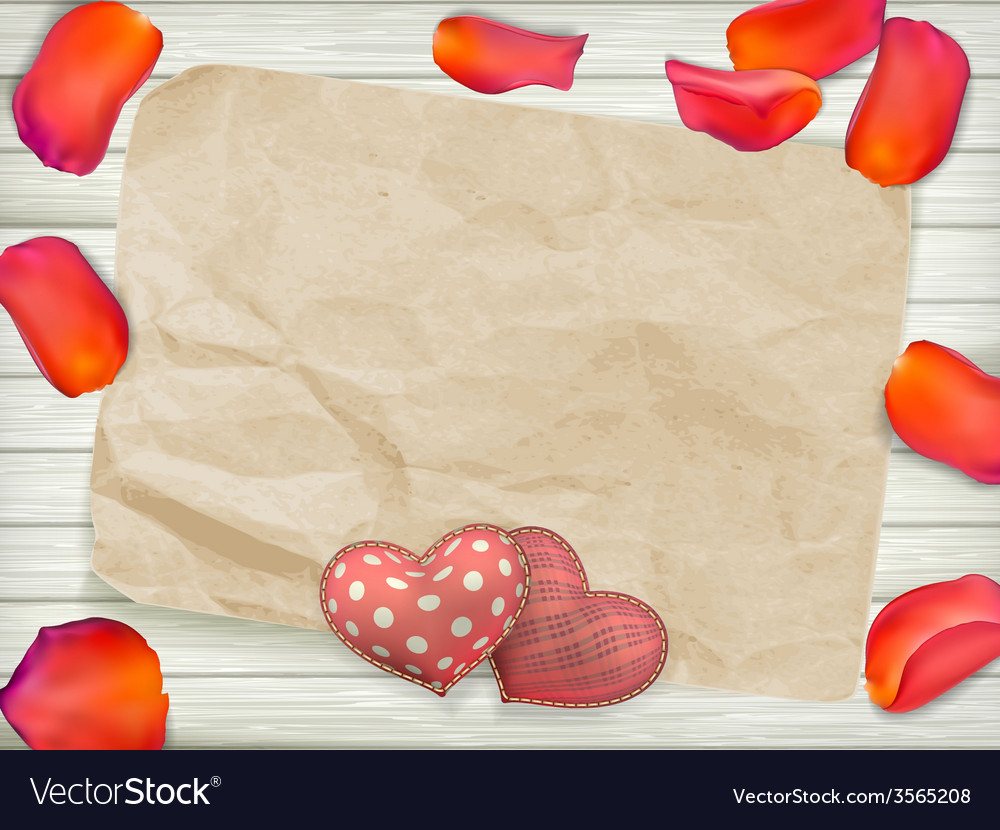 Valentines day toys on wooden plates eps 10 vector | Price: 3 Credit (USD $3)