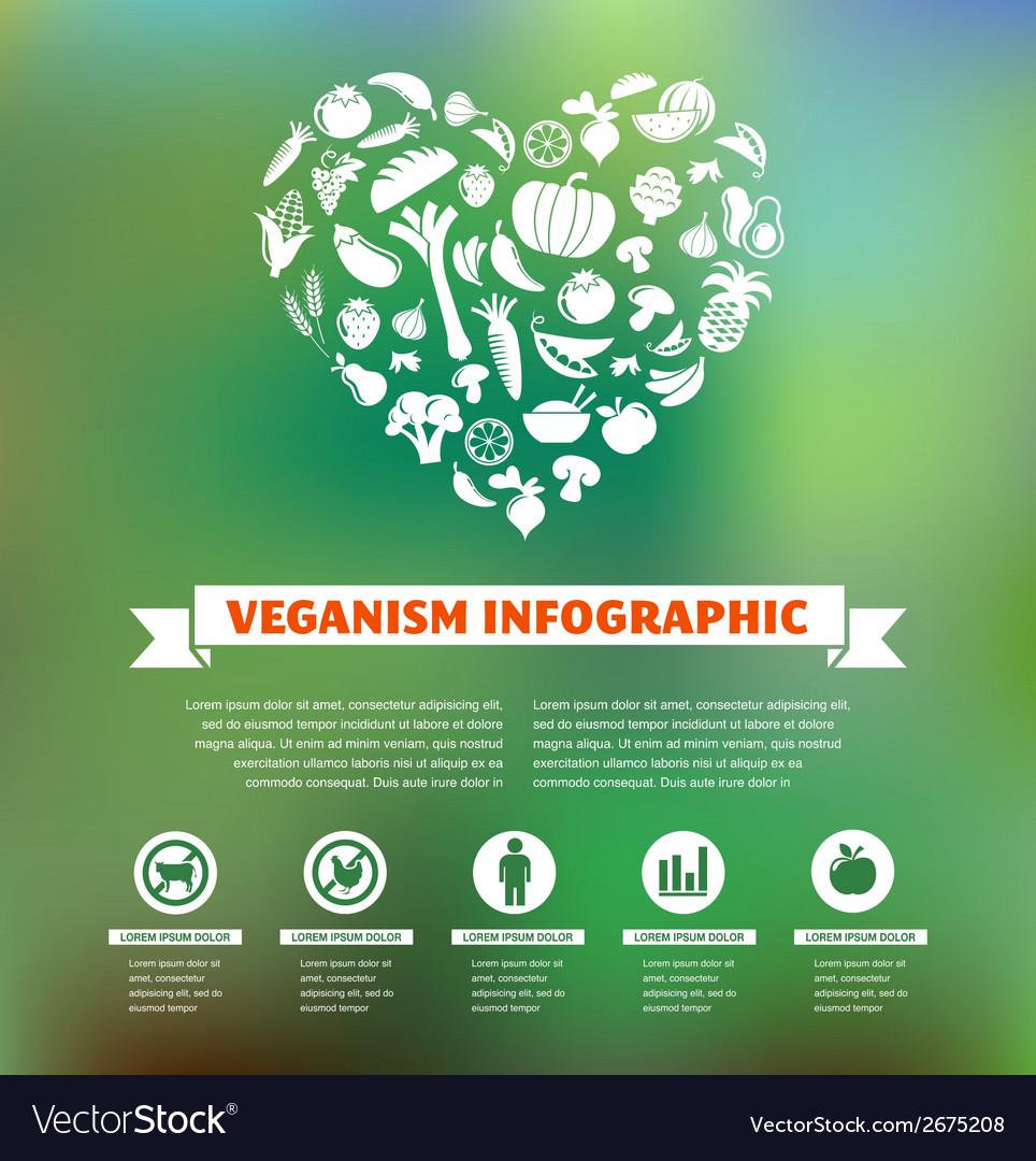 Vegetarian and vegan healthy organic infographic vector | Price: 1 Credit (USD $1)