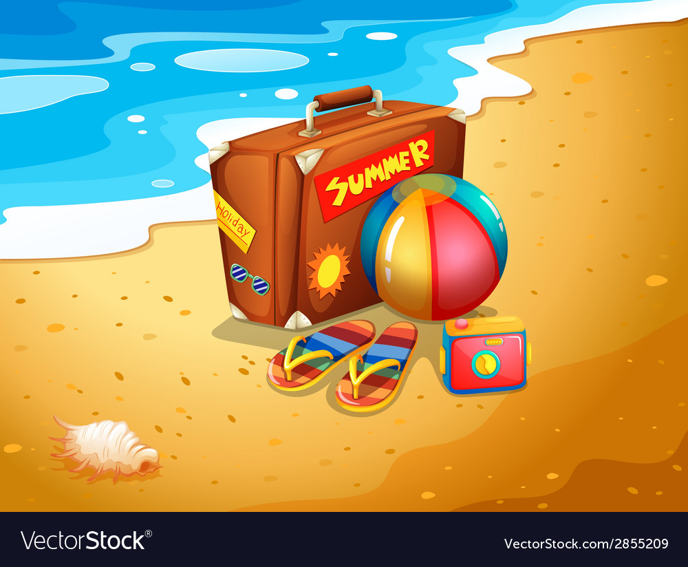 A summer escapade at the beach vector | Price: 1 Credit (USD $1)