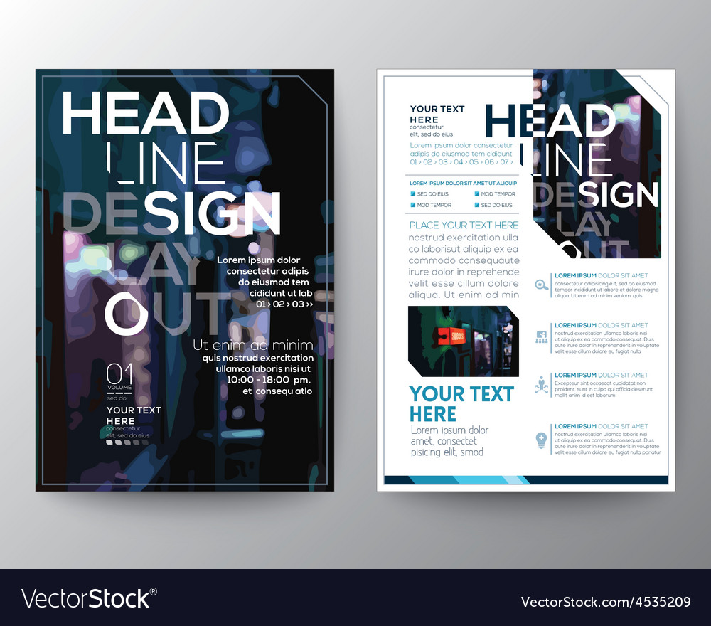 Abstract brochure flyer design layout template vector   Price: 1 Credit (USD $1)