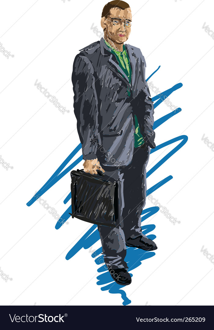 Business man vector | Price: 3 Credit (USD $3)
