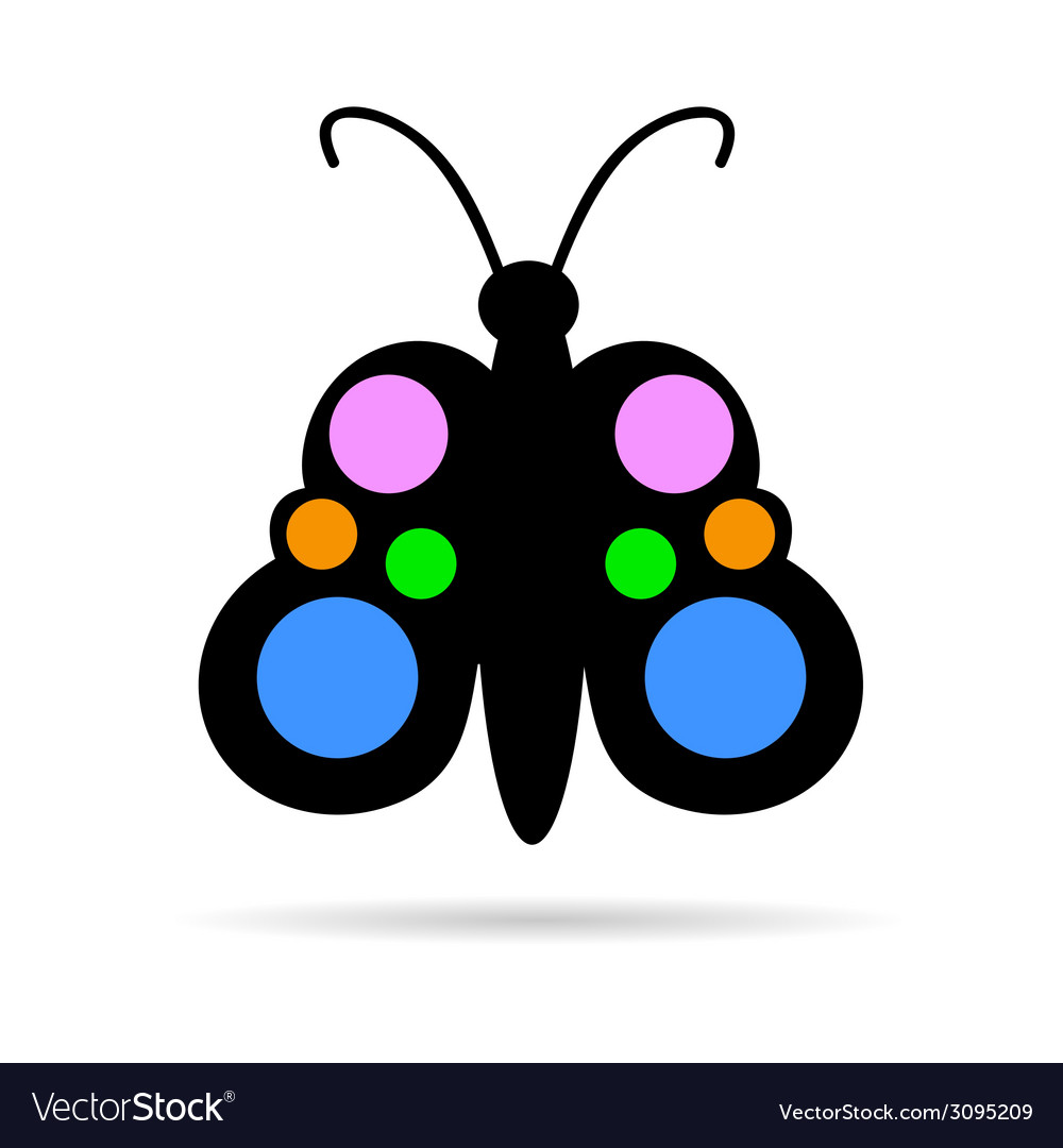 Butterfly color vector | Price: 1 Credit (USD $1)