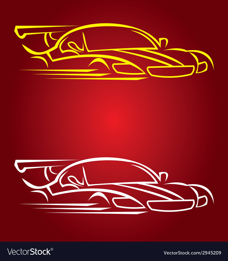 Car race vector | Price: 1 Credit (USD $1)