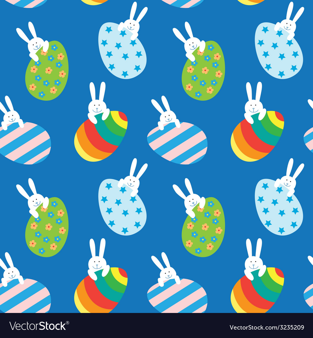 Easter seamless pattern vector | Price: 1 Credit (USD $1)