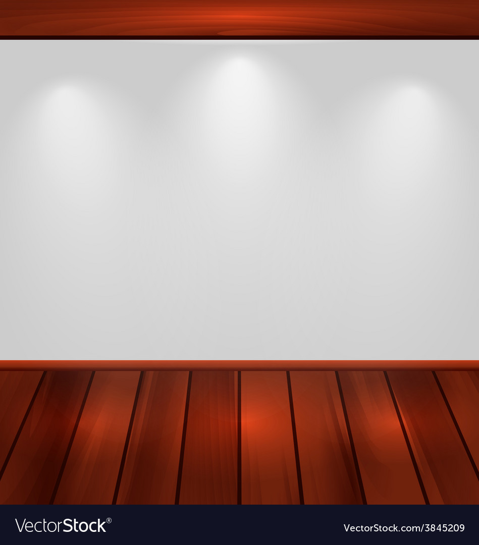 Empty wall with light and wooden floor - vector | Price: 1 Credit (USD $1)