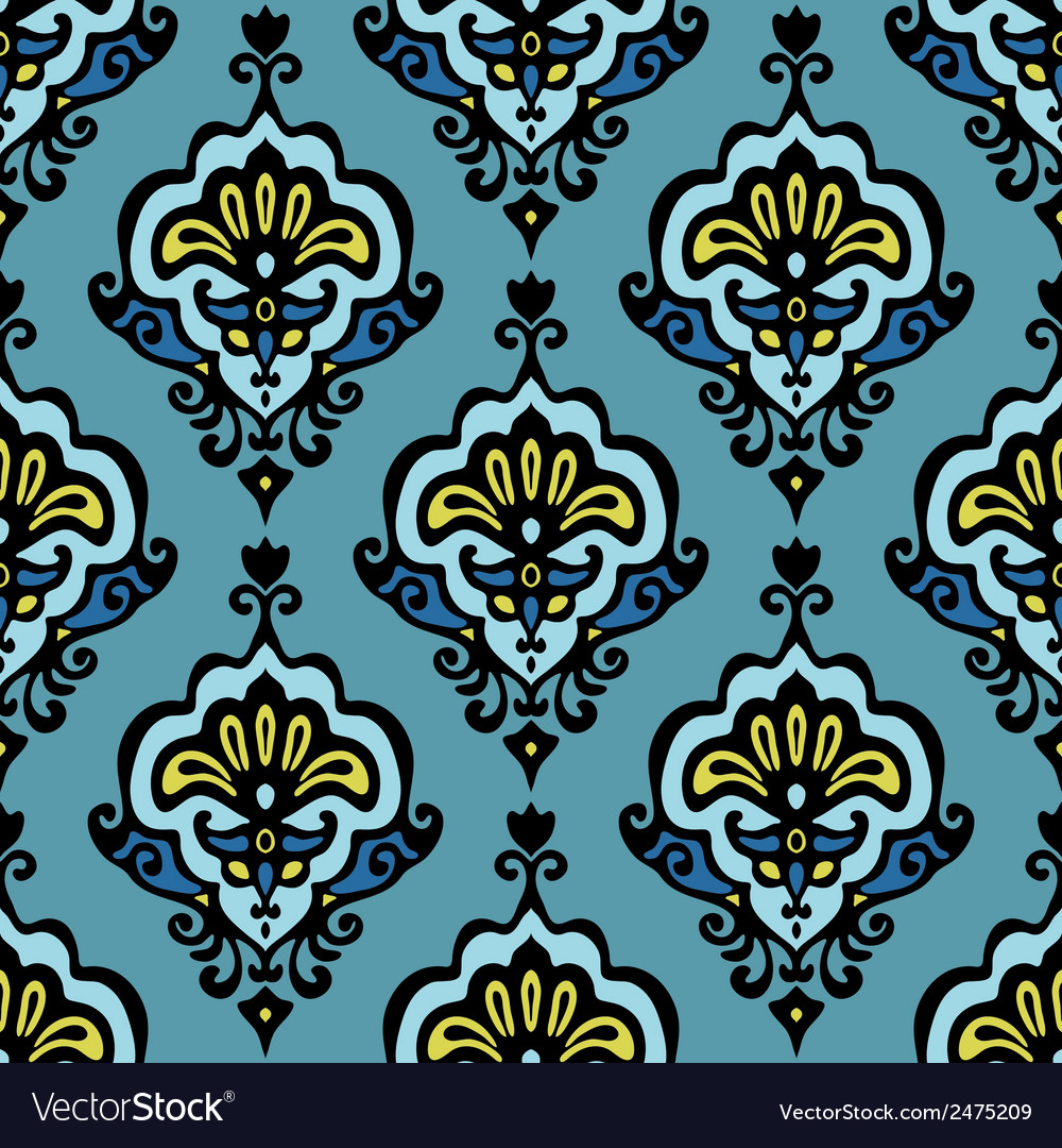 Floral damask vector | Price: 1 Credit (USD $1)
