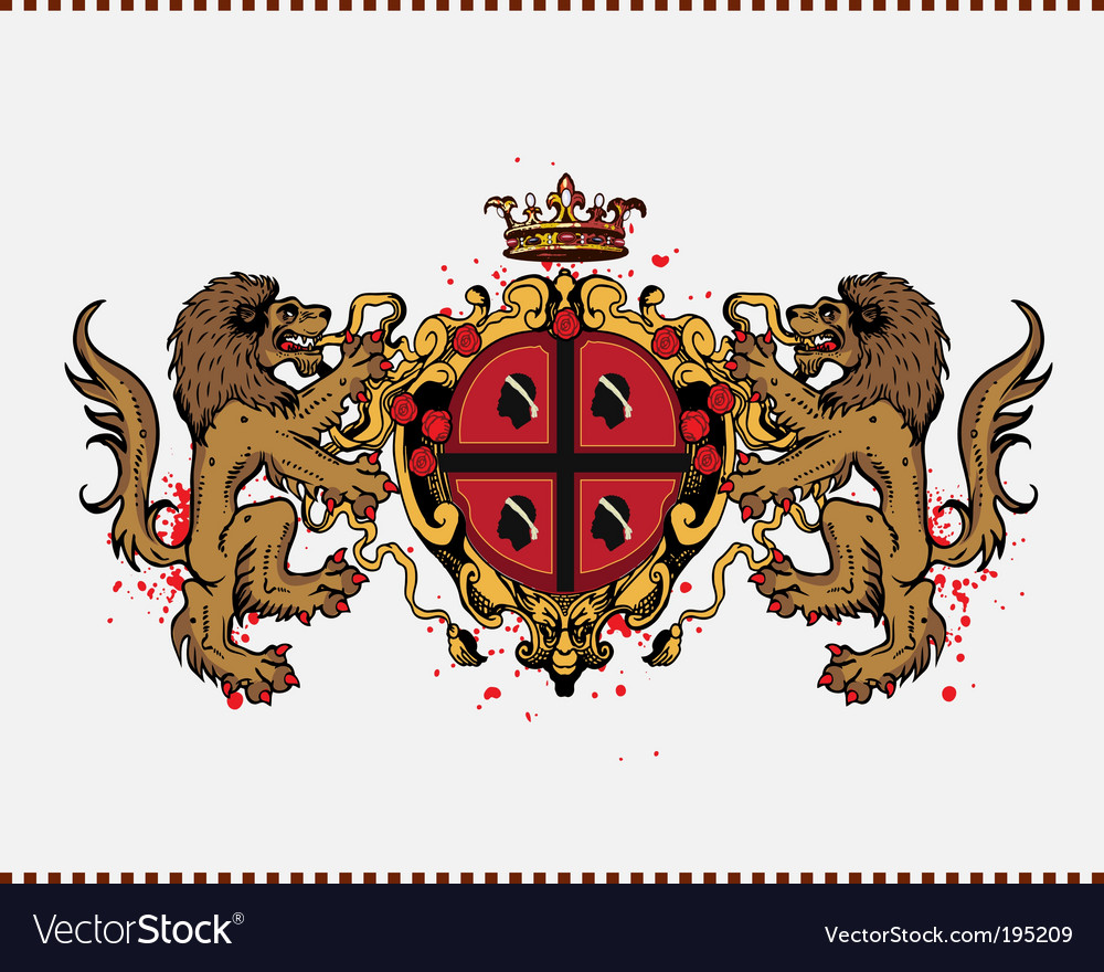 Lion crest vector | Price: 1 Credit (USD $1)