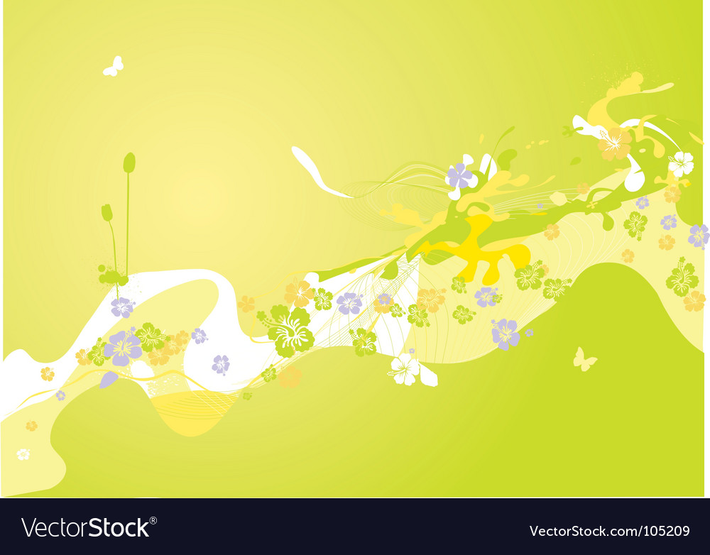 Spring decoration vector | Price: 1 Credit (USD $1)
