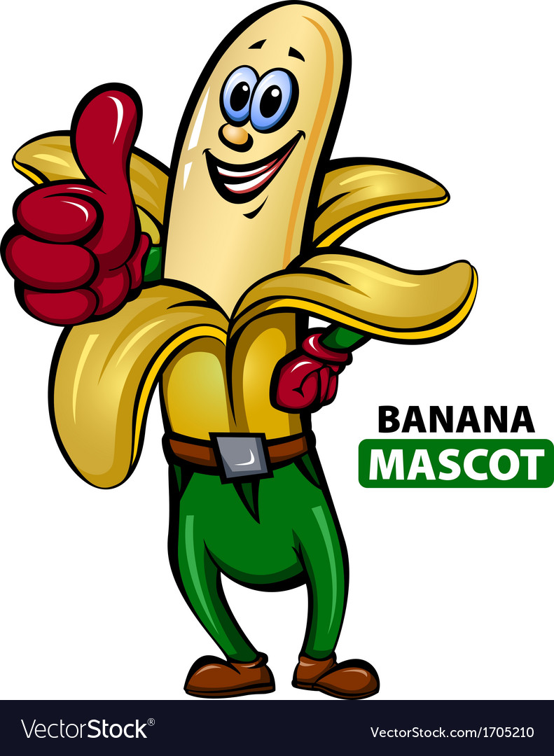 Banana mascot vector | Price: 1 Credit (USD $1)
