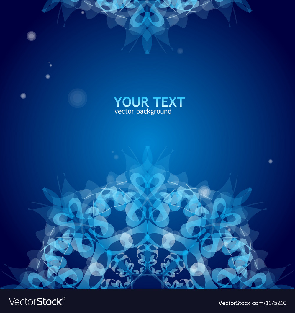 Blue ornament for text vector   Price: 1 Credit (USD $1)