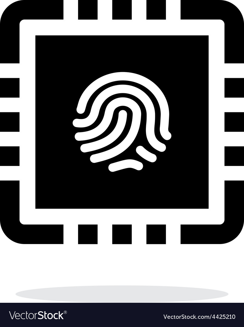 Cpu secure simple icon on white background vector | Price: 1 Credit (USD $1)
