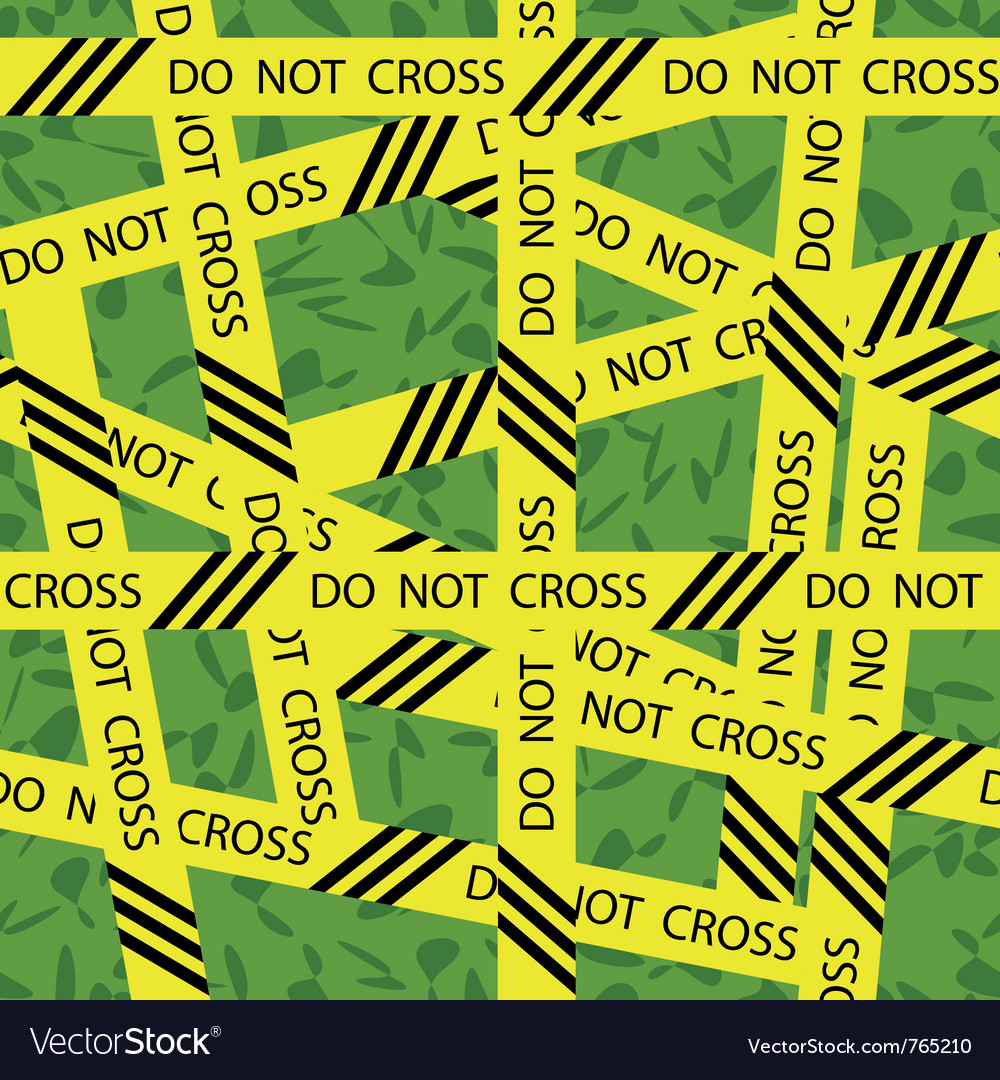 Do not cross tape seamless pattern vector | Price: 1 Credit (USD $1)