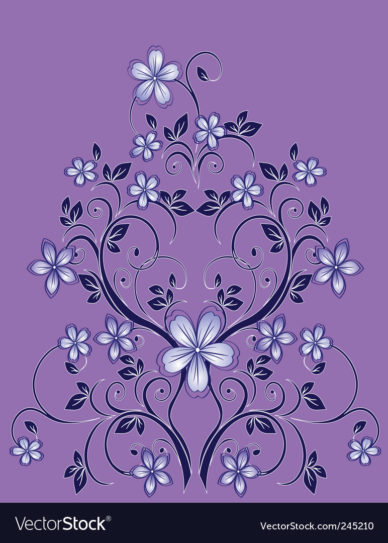 Floral decor vector | Price: 1 Credit (USD $1)