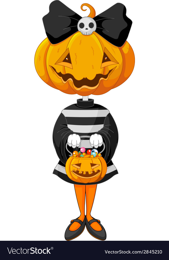 Halloween trick or treating girl vector | Price: 1 Credit (USD $1)