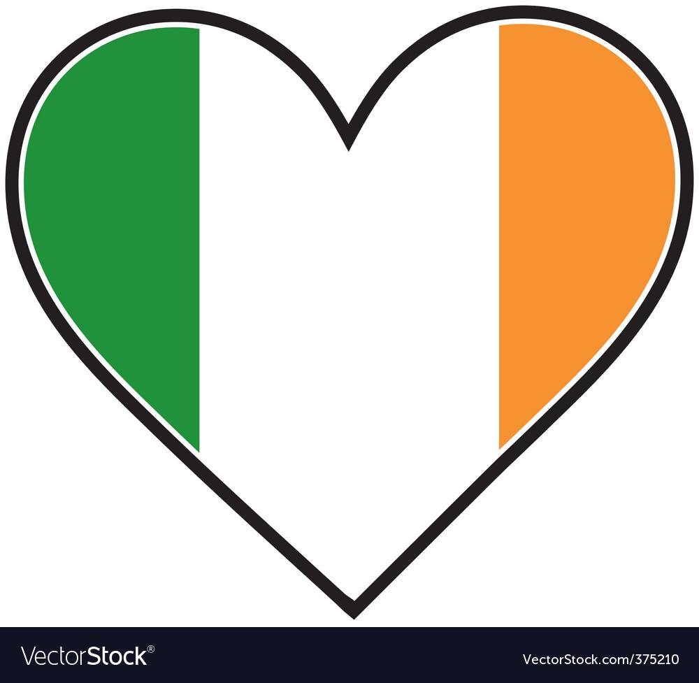 Irish heart flag vector