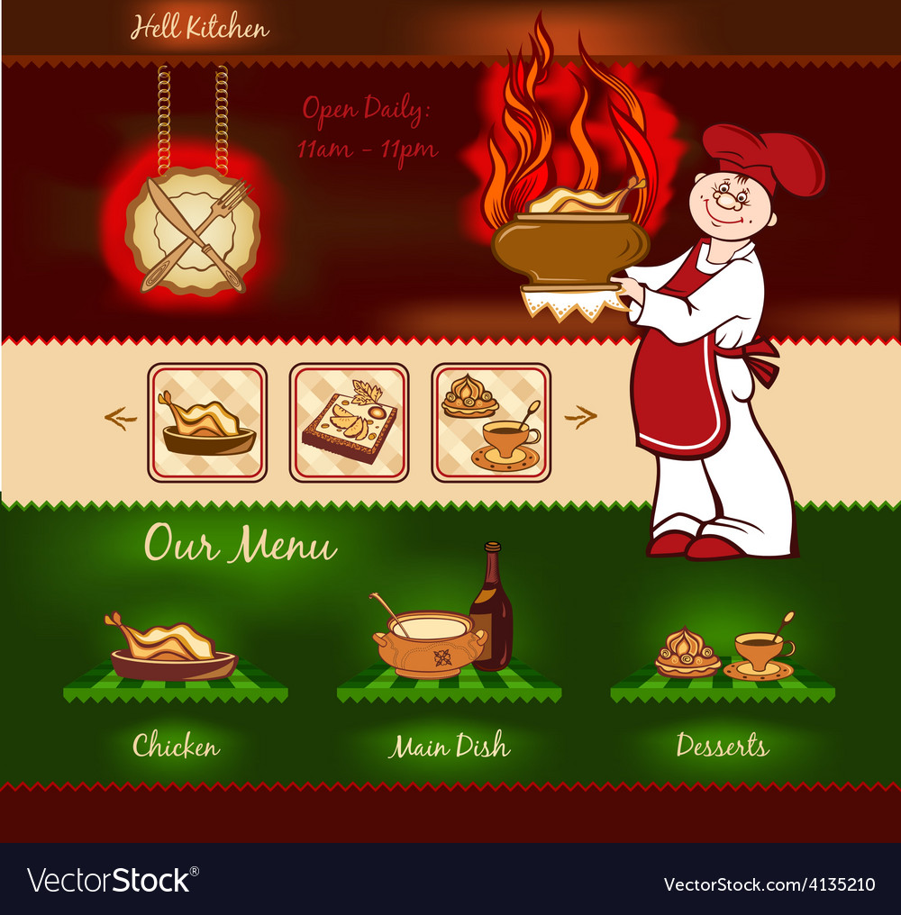 Kitchen template vector | Price: 3 Credit (USD $3)