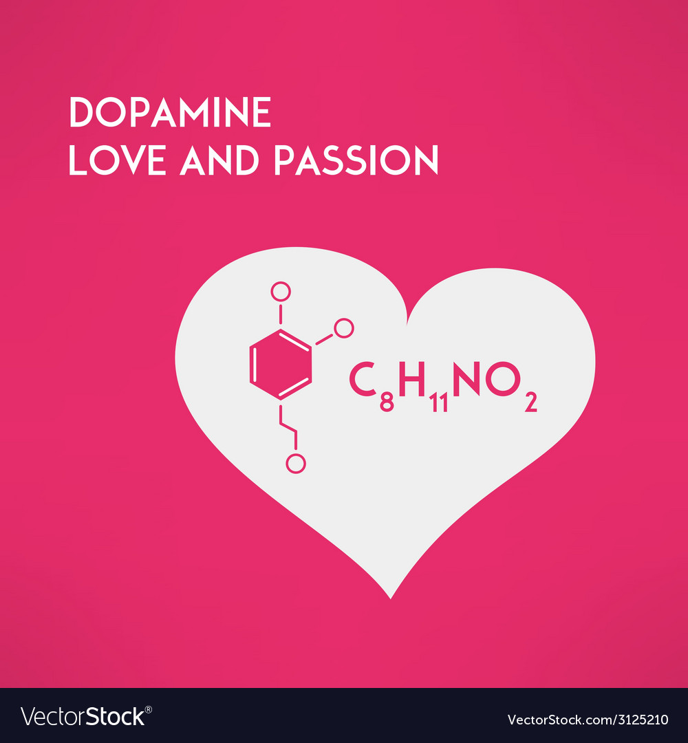 Love chemistry passion concept dopamine vector | Price: 1 Credit (USD $1)