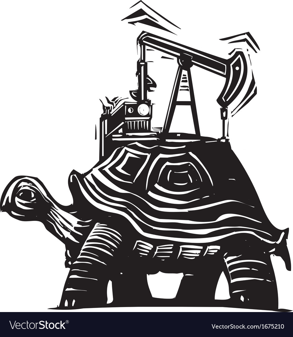 Oil well turtle vector | Price: 1 Credit (USD $1)