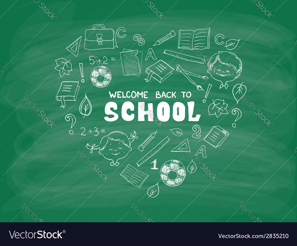 School objects in the shape of heart vector | Price: 1 Credit (USD $1)
