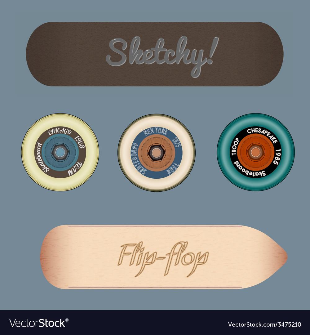 Skateboard design elements vector | Price: 1 Credit (USD $1)