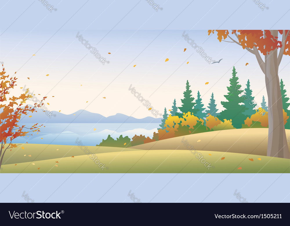Autumn forest vector | Price: 3 Credit (USD $3)