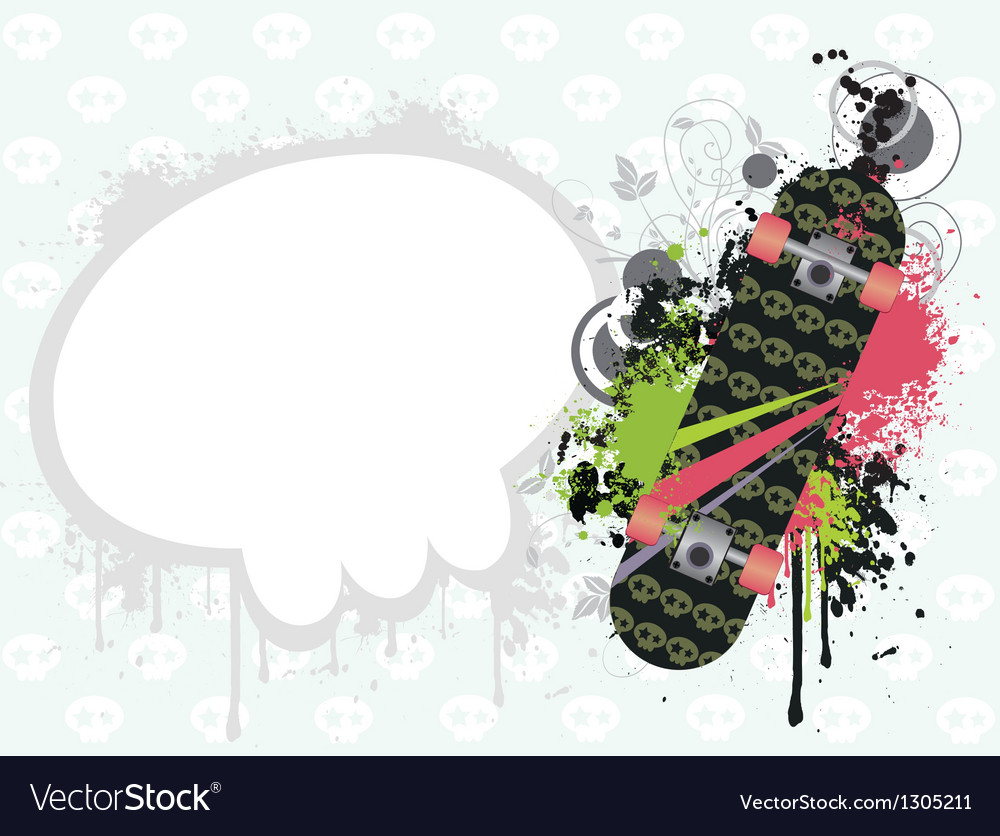 Background with skate vector | Price: 1 Credit (USD $1)