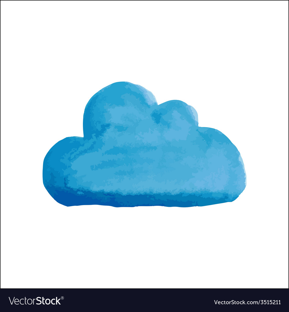 Blue water color cloud vector | Price: 1 Credit (USD $1)