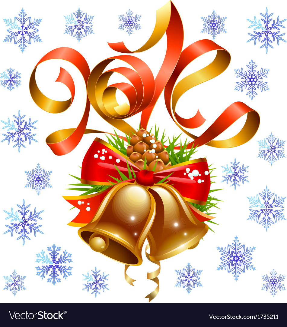 Christmas and new year 2014 decoration set vector | Price: 1 Credit (USD $1)