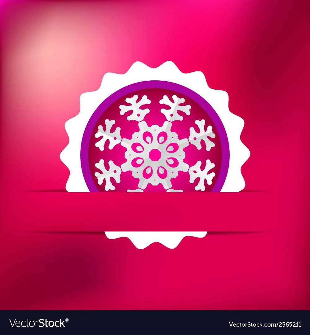 Christmas snowflake on red purple   eps8 vector | Price: 1 Credit (USD $1)