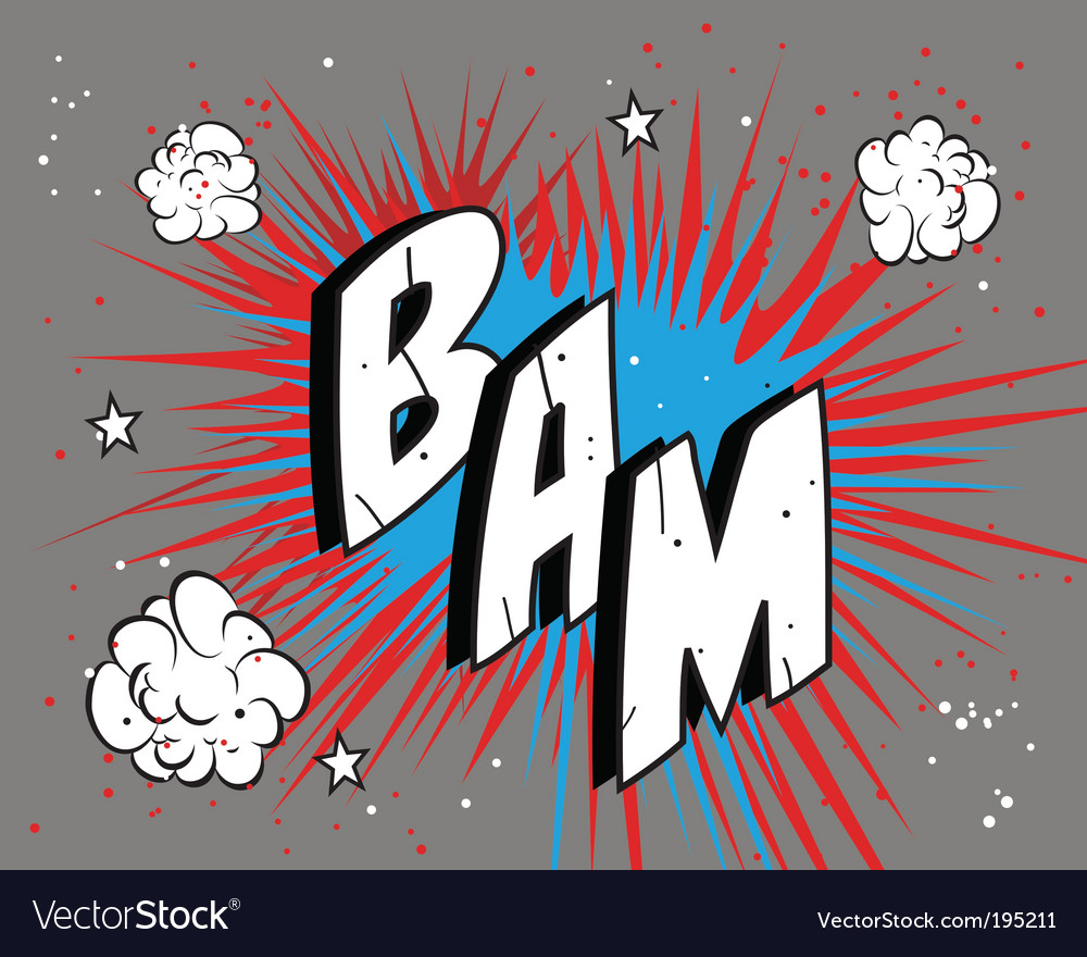 Comic book bam vector | Price: 1 Credit (USD $1)