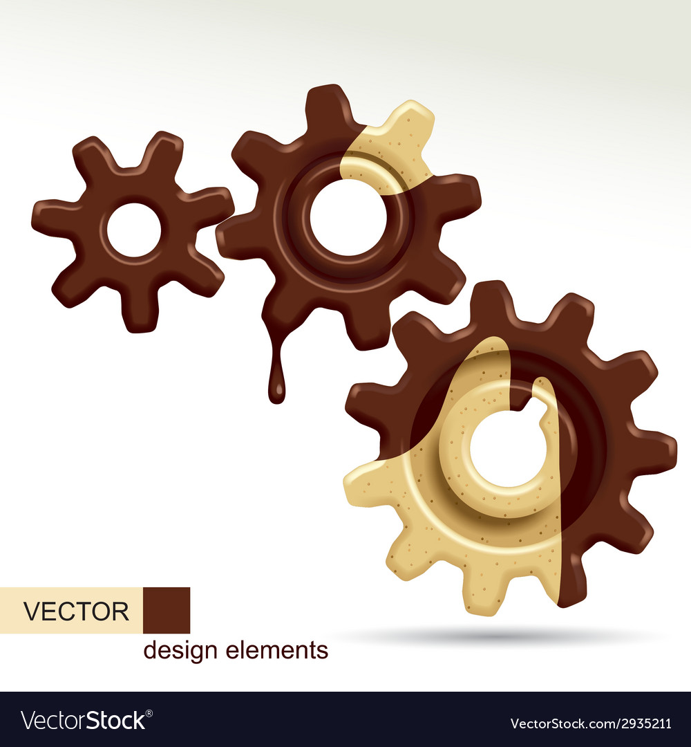 Confectionery gears vector | Price: 1 Credit (USD $1)