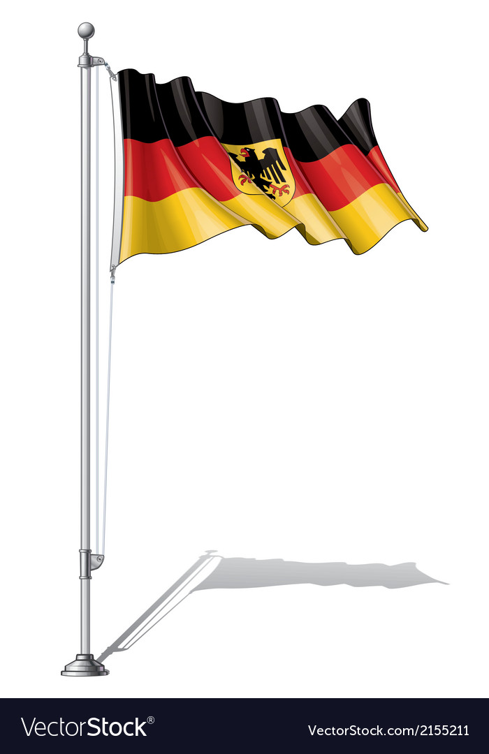 Flag pole germany vector   Price: 1 Credit (USD $1)