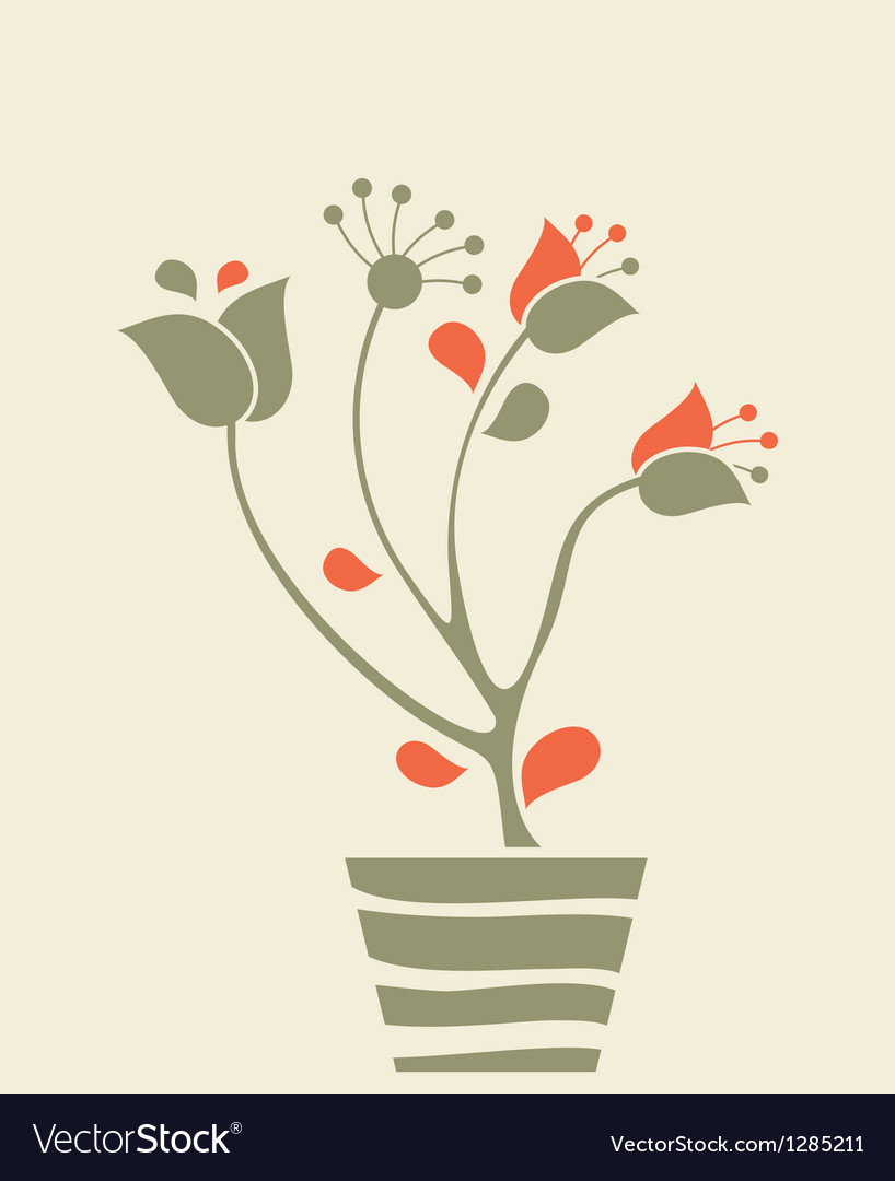 Flowerpot vector | Price: 1 Credit (USD $1)