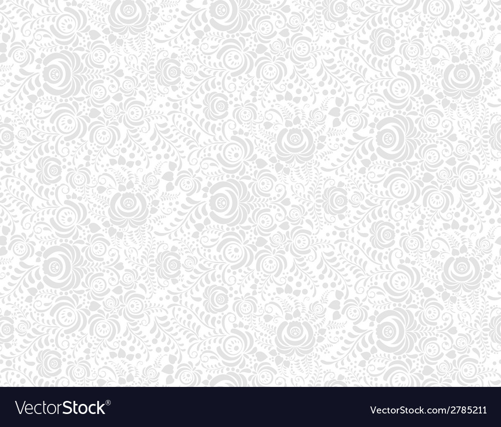 Grey floral textile seamless pattern in gzhel vector | Price: 1 Credit (USD $1)
