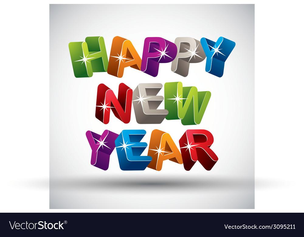 Happy new year color version vector   Price: 1 Credit (USD $1)