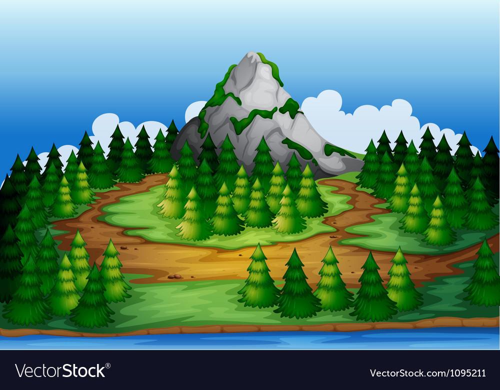 Nature scene vector | Price: 1 Credit (USD $1)