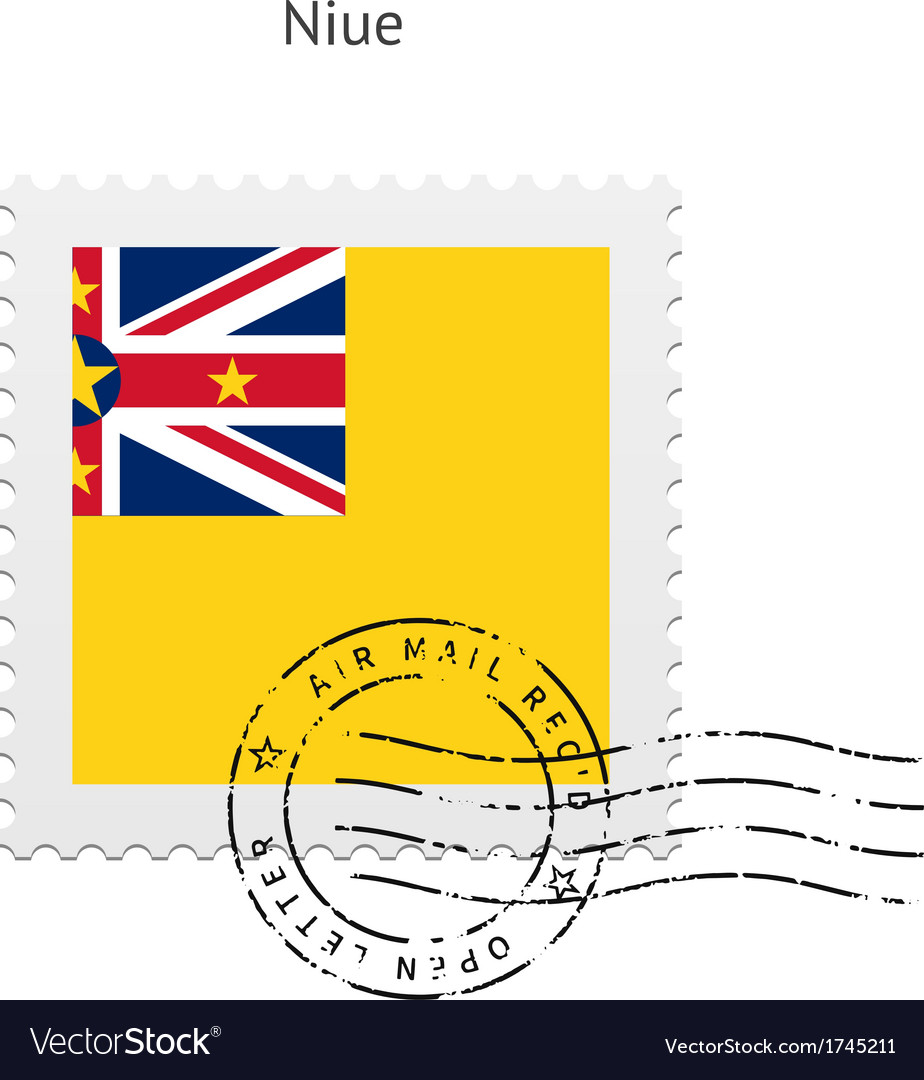 Niue flag postage stamp vector | Price: 1 Credit (USD $1)